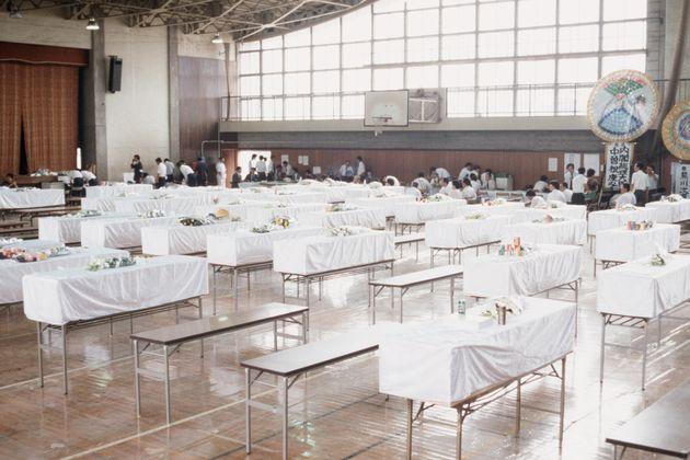 日航ジャンボ機墜落事故の犠牲者の遺体安置所(群馬県藤岡市)