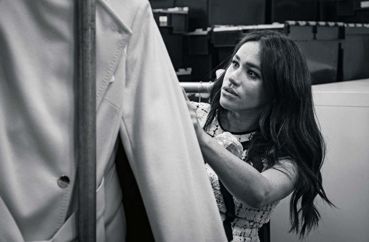The Duchess of Sussex, patron of Smart Works, in the workroom of the Smart Works London office, shown in a photoissued