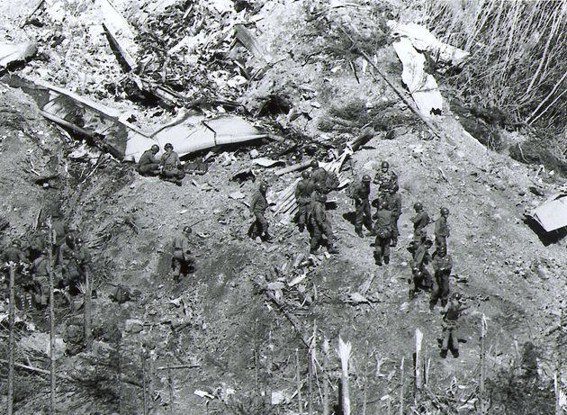 自衛隊による救助活動(1985年8月13日)