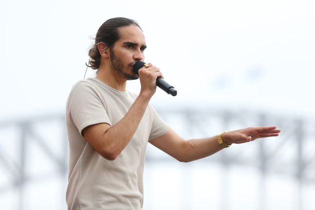 Isaiah Firebrace performs during Australia Day Live Rehearsals on January 25, 2020 in Sydney,
