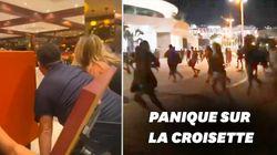 Les images du mouvement de foule à Cannes après la fausse rumeur d'une