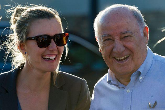 El dueño de Inditex, Amancio Ortega, con su hija Marta