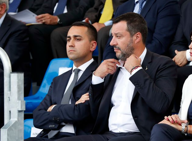 Luigi Di Maio and Matteo Salvini during the 202nd Anniversary of the Foundation of the Prison Police...
