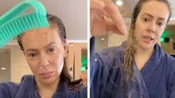 Alyssa Milano mostra i capelli persi causa Covid-19:
