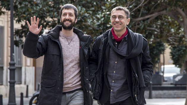 Juan del Olmo y Juan Carlos Monedero, en una imagen de