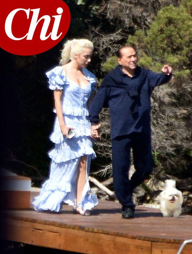 Silvio Berlusconi e Marta Fascina nelle immagini pubblicate da
