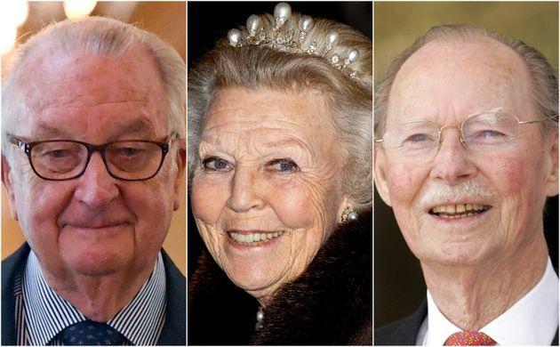 Alberto II de Bélgica, Beatriz de los Países Bajos y Juan, gran duque de