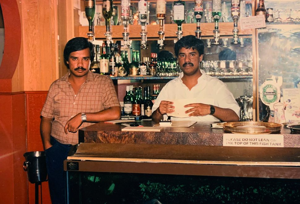 Syed Pasha and his brother Syed Ahmed in their restaurant Memsahib.