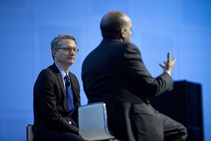In this 2015 photo, Christian Madsbjerg of Red Associates (left) listens to Raj Nair, executive vice president and chief