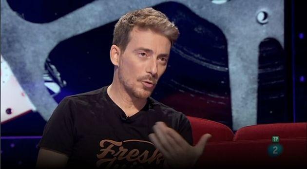 El actor Víctor Clavijo, en un programa de