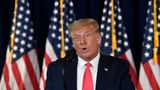 President Donald Trump speaks during a news conference at the Trump National Golf Club in Bedminster, N.J., Saturday, Aug. 8, 2020. (AP Photo/Susan Walsh)