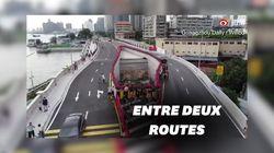 Une ville chinoise construit une route autour de cette