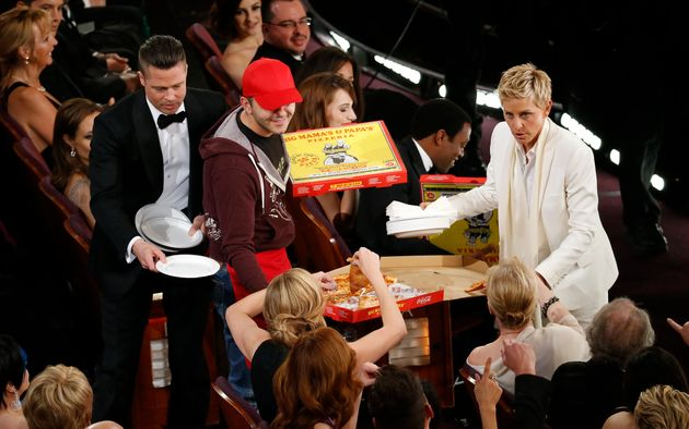 DeGeneres hosting the Academy Awards in