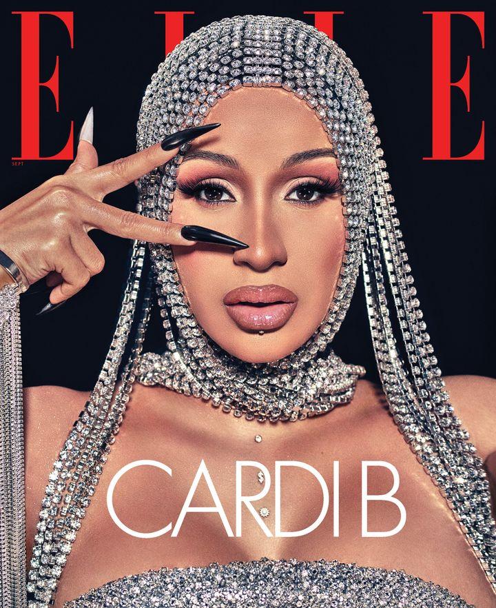 Cardi B covers Elle magazine's September issue.