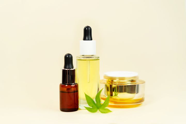 CBD is added to a number of skin care products, including oils, serums and creams.