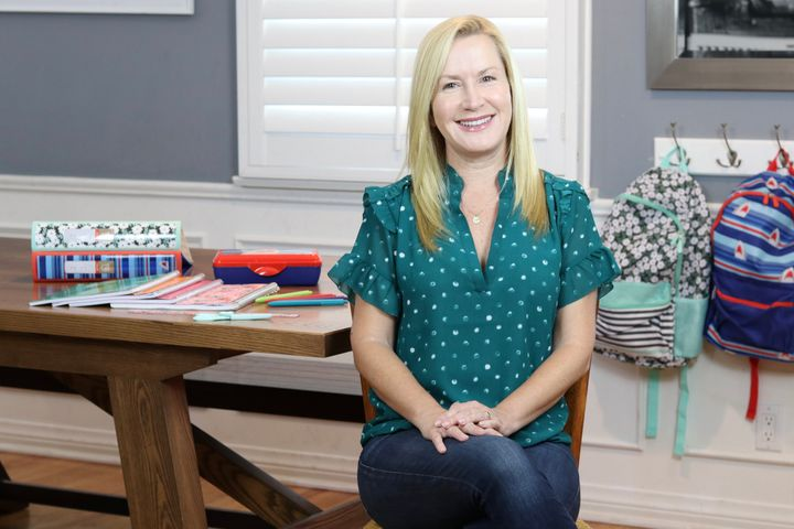Angela Kinsey believes it's particularly important to show appreciation for teachers amid the coronavirus pandemic.
