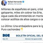 Rafael Hernando se ríe de un puesto creado por el PP pensando que había sido el