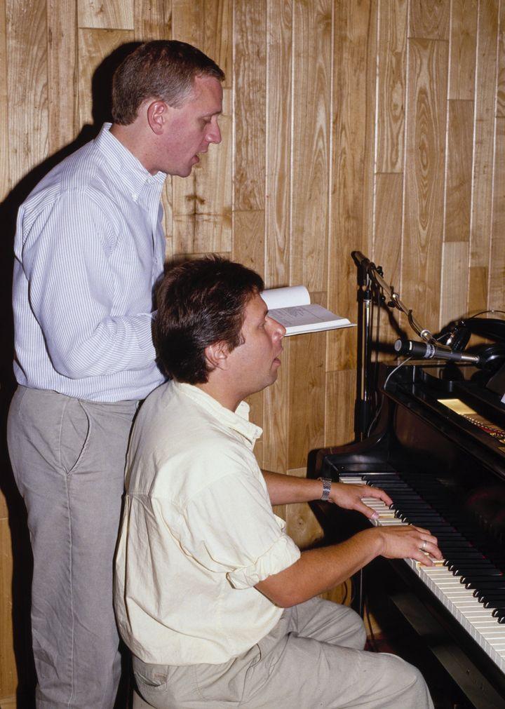 Howard Ashman (left) and Alan Menken.