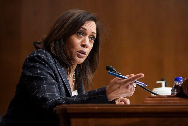 La sénatrice Kamala Harris, ici lors d'une audition au Sénat en juin 2020, pourrait devenir...