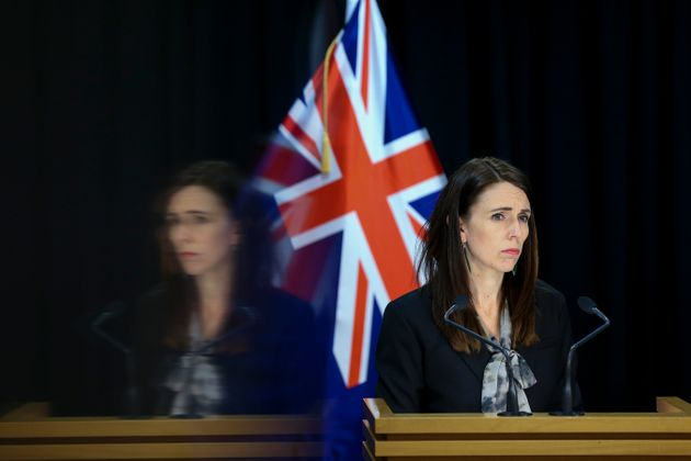 WELLINGTON, NEW ZEALAND - AUGUST 12: Prime Minister Jacinda Ardern speaks to media during a press conference...