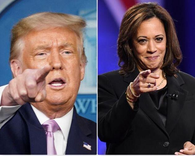 Per due volte Trump ha fatto donazioni a favore della candidatura di Kamala Harris