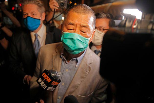 홍콩 대표 반중매체 빈과일보 사주인 지미