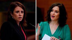 Adriana Lastra responde a la defensa (con ataque al PSOE) de Díaz Ayuso sobre su imagen en un