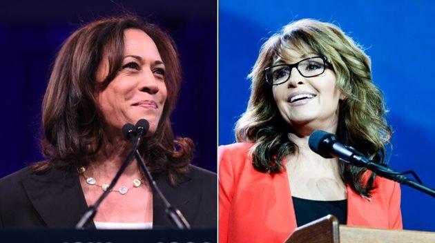 Sarah Palin, ici en 2016 à Denver, a donné quelques conseils à Kamala Harris, ici le 11 août à San