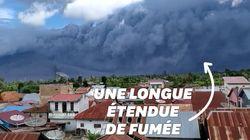 Le nuage de cendres de ce volcan s'étend sur 5km de