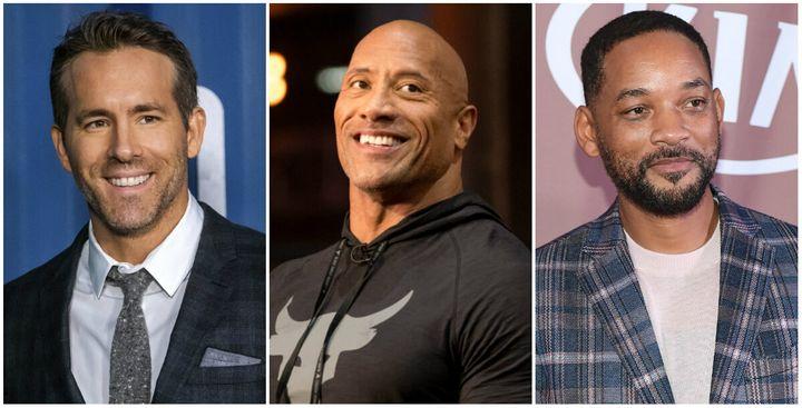 Ryan Reynolds, Dwayne Johnson et Will Smith sont parmi les comédiens les mieux payés en 2020.