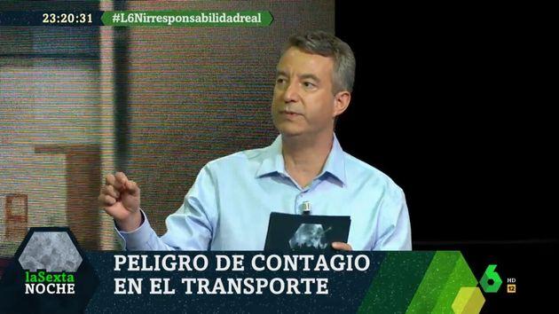 César Carballo, en una de sus intervenciones de 'laSexta