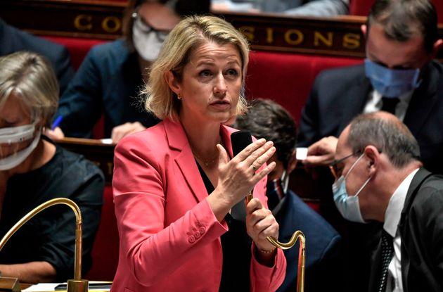 La ministre de la Transition écologique Barbara Pompili le 28 juillet à l'Assemblée...