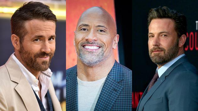Ryan Reynolds, Dwayne Johnson y Ben Affleck, entre los actores mejor pagados en