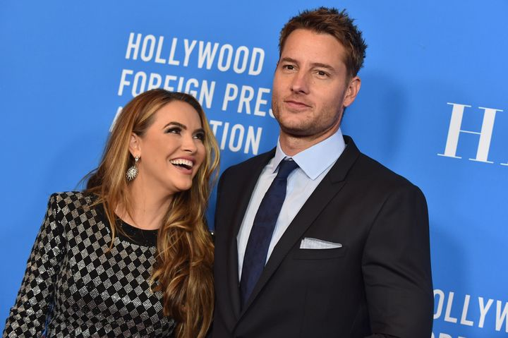 Chrishell Stause and Justin Hartley attend an event together in July 2019. Hartley filed for divorce in November of that year