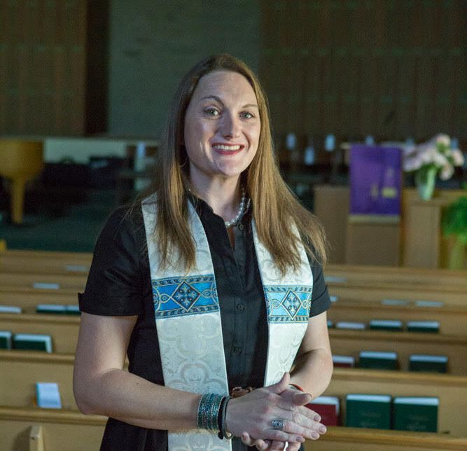 The writer at Lorne Park Baptist Church in Mississauga, where she worked for six years as lead pastor before being fired, in June.