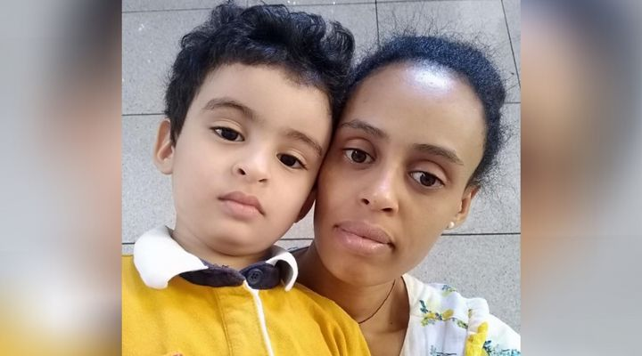 Selam Nega and her son Dani were supposed to come to Canada from Lebanon this spring as refugees, but the process has been delayed due to the pandemic.
