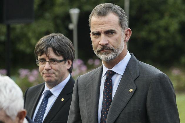 Carles Puigdemont y Felipe