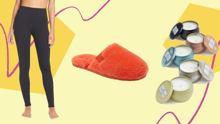 """<a href=""""https://fave.co/3feQzbt"""" target=""""_blank"""" rel=""""nofollow noopener noreferrer"""">Nordstrom&rsquo;s 2020 Anniversary Sale</a>&nbsp;is now available to shop for all Nordstrom cardholders. We found loungewear in the sale, from <a href=""""https://fave.co/3fSLlSj"""" target=""""_blank"""" rel=""""noopener noreferrer"""">best-selling high-waisted leggings</a> to popular <a href=""""https://fave.co/3iB8zxX"""" target=""""_blank"""" rel=""""noopener noreferrer"""">fuzzy Ugg slippers</a>."""
