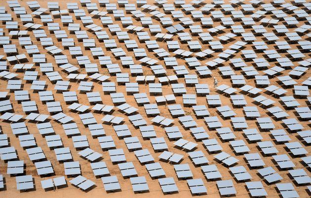 Una planta solar copropiedad de Google en Mojave