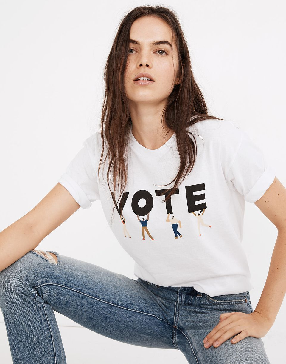 It's no wonder why this Madewell T-shirt's actually a bestseller: It's adorable, and 100% of its purchase price goes to the <