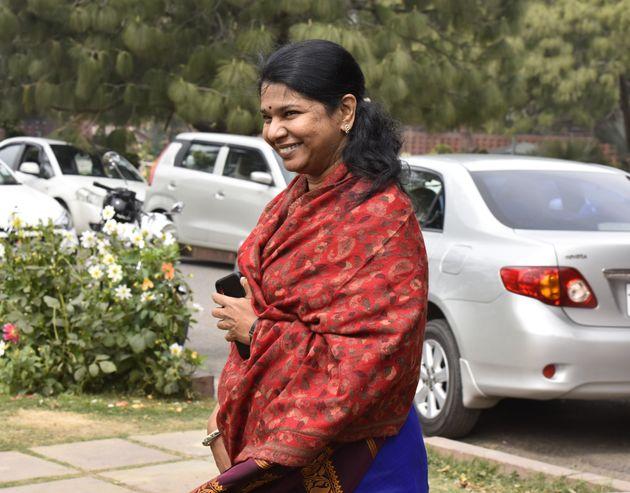 DMK MP Kanimozhi in a file