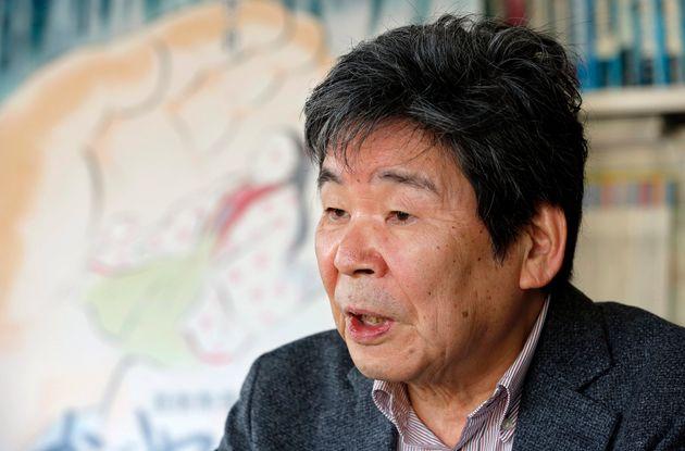 映画「かぐや姫の物語」についてインタビューに応じる高畑勲監督(2015年2月12日)