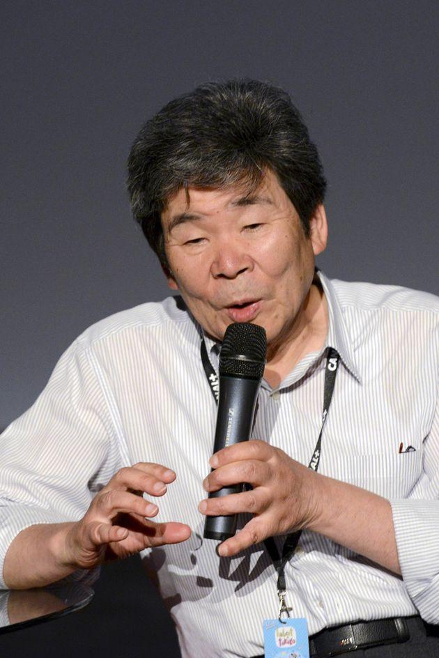 フランスの国際映画祭で名誉クリスタル賞を受賞した高畑勲監督(2014年6月10日)