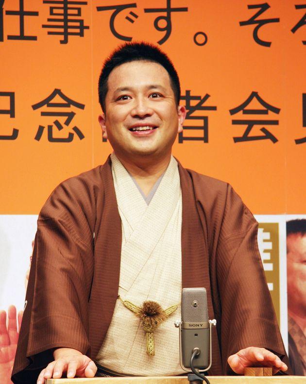 桂吉弥さん=2008年7月29日撮影