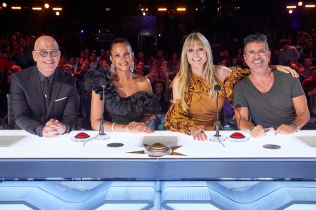 The cast of America's Got Talent: The Champions, including Heidi Klum and Alesha
