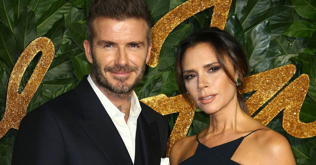 Victoria Beckham Can't Resist Poking Fun At Husband David's Throwback Photo-Shoot