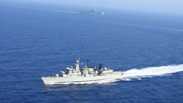 Εικόνες από την ναυτική άσκηση Ελλάδας - Γαλλίας στην ανατολική