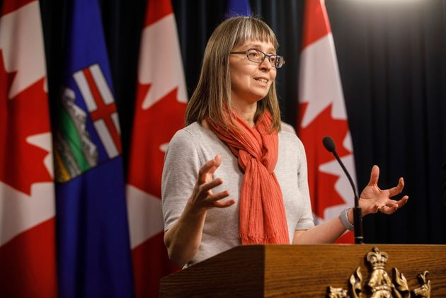 Dr. Deena Hinshaw, Alberta's chief medical officer of health, is seen here in Edmonton on March...