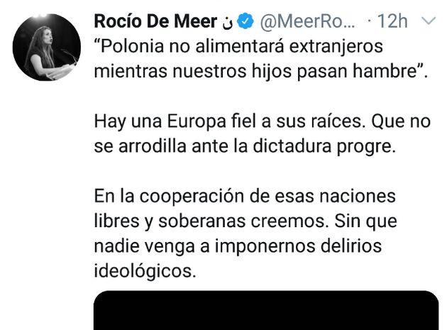 Tuit de Rocío de