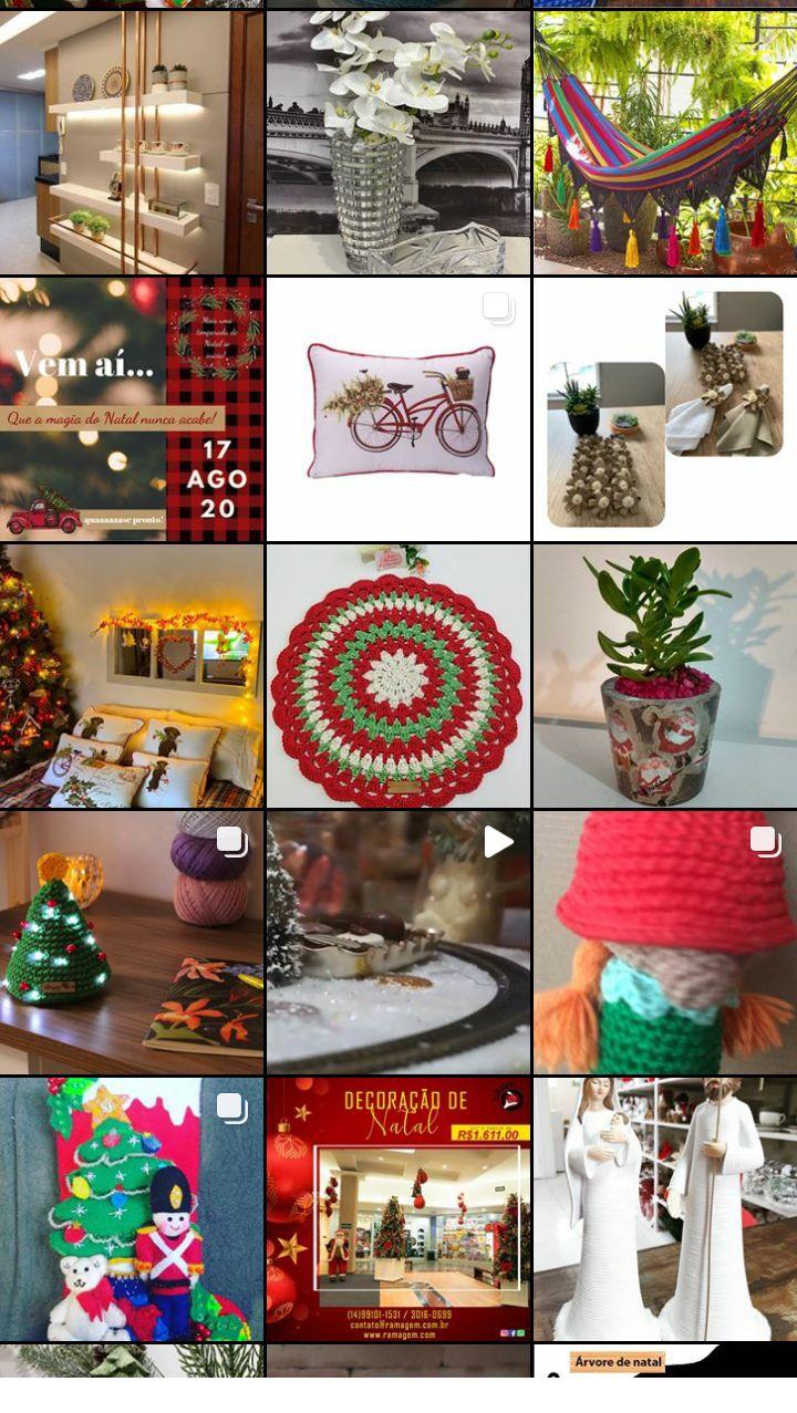 Imagens mais recentes com a tag #decoracaodenatal no Instagram.